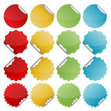 Colorful bended seals Stock Photography
