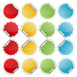 Colorful bended stickers Stock Photography