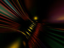 Colorful Bending Abstract. 3D colorful abstract of bending lines over random color lights on a black background Royalty Free Stock Images