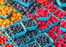 Colorful berries at market Stock Photo