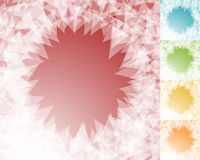 Colorful BG set in square format with edgy, shatter like effect. Royalty Free Stock Image