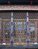 Colorful Bhutanese window and grill Stock Photography