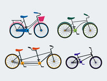 Colorful Bicycle Set. Vector Royalty Free Stock Images