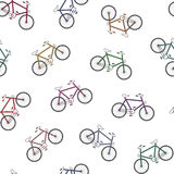 Colorful bicycles background Stock Images