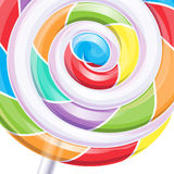 Colorful big lollipop spiral candy background Stock Photography