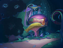 Colorful big magic mushrooms. royalty free illustration