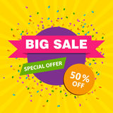 Colorful Big Sale Banner Design Template Stock Photo