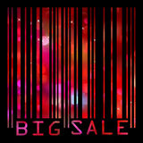 Colorful big sale bar code. EPS 8 Royalty Free Stock Photography