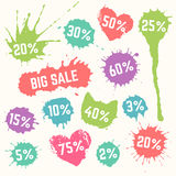 Colorful Big Sale symbols. Royalty Free Stock Image