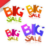 Colorful Big Sale Vector Sticker - Label Set Stock Images
