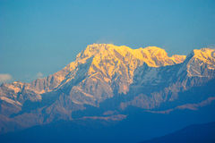 Colorful on the big snow mountain in Pokhara,Nepal Stock Photo