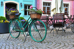 Colorful bike in the street Royalty Free Stock Photo