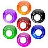 Colorful billiard balls without numbers. Illustration Stock Illustration