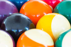 Colorful Billiard balls. Billiard balls on the table Stock Photography