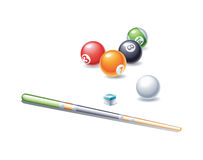 Colorful billiard balls Stock Photos