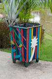 Colorful bin Royalty Free Stock Image