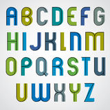 Colorful binary cartoon font. Stock Photos