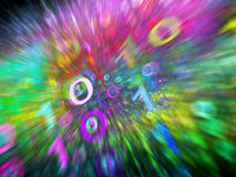 Colorful binary code stream in motion Royalty Free Stock Photography