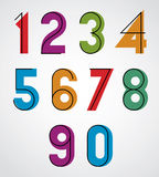 Colorful binary simple numbers. Royalty Free Stock Photo
