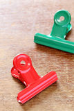 Colorful binder clips Royalty Free Stock Photos