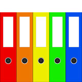 Colorful binders Royalty Free Stock Images