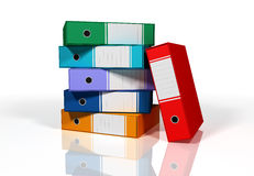 Colorful binders randomly placed Stock Images