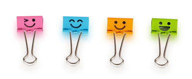 Colorful binders with smiles Royalty Free Stock Photos