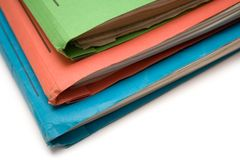 Colorful Binders (Top View) Stock Photo