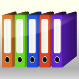 Colorful Binders Royalty Free Stock Image