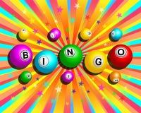 Colorful Bingo Background. Bingo balls word on colorful exploding background vector illustration