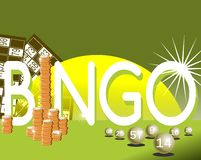 Colorful bingo background Royalty Free Stock Photo