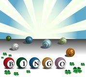 Colorful bingo balls Royalty Free Stock Photography