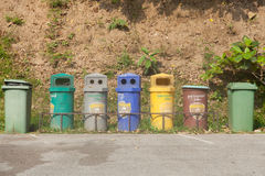 Colorful bins stock photo