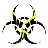 Colorful bio hazard symbol isolated Royalty Free Stock Photography