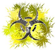 Colorful Bio hazard symbol made with spots Royalty Free Stock Images