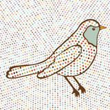 Colorful bird on dotted background Royalty Free Stock Photography