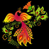Colorful bird and flower Royalty Free Stock Photography