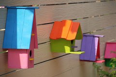 Free Colorful Bird House Royalty Free Stock Photography - 55417337