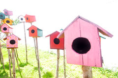 Colorful bird house Royalty Free Stock Image