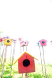 Colorful bird house Stock Images