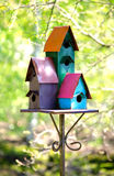 Colorful bird house Royalty Free Stock Photo