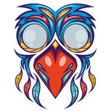 Colorful Bird Mask Shirt Design Royalty Free Stock Photos