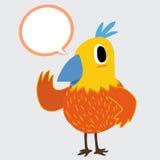 Colorful bird talking Stock Image
