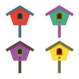 Colorful Birdhouses Royalty Free Stock Photography