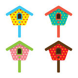 Colorful Birdhouses Stock Image