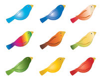 Colorful birds Royalty Free Stock Image