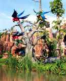 Colorful birds. Colorful real-like birds featured at a theme park near Bangkok, Thailand Royalty Free Stock Photo