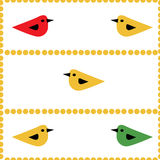 Colorful birds seamless natural background Royalty Free Stock Images