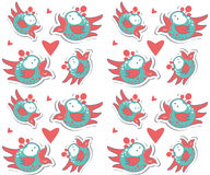 Colorful birds seamless pattern Royalty Free Stock Image