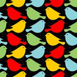 Colorful birds seamless patterns. Royalty Free Stock Photo